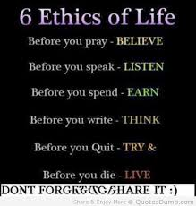 ethics of life